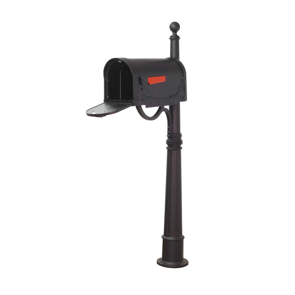 Ashland Decorative Aluminum Durable Mailbox Post with Ball Topper, Base and Mounting Bracket. Picture 18