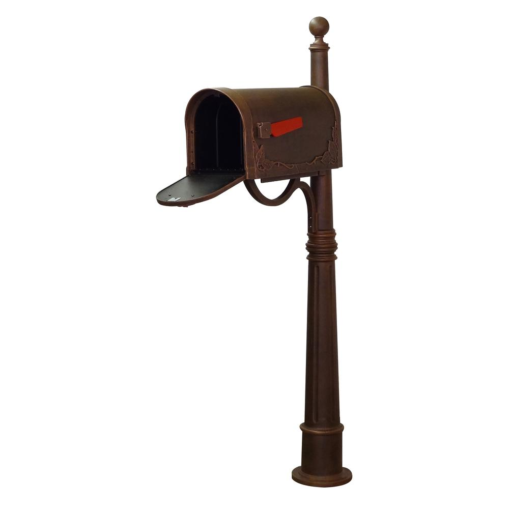 Ashland Decorative Aluminum Durable Mailbox Post with Ball Topper, Base and Mounting Bracket. Picture 20