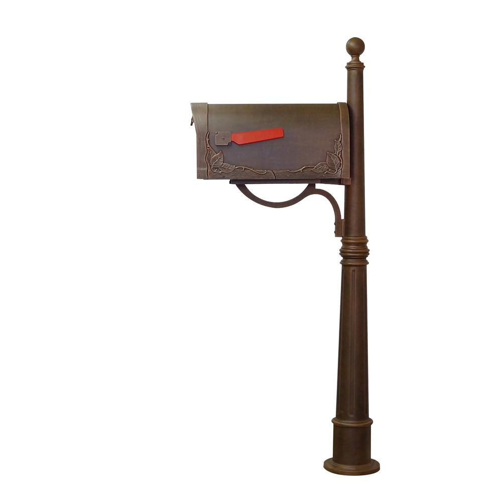 Ashland Decorative Aluminum Durable Mailbox Post with Ball Topper, Base and Mounting Bracket. Picture 21