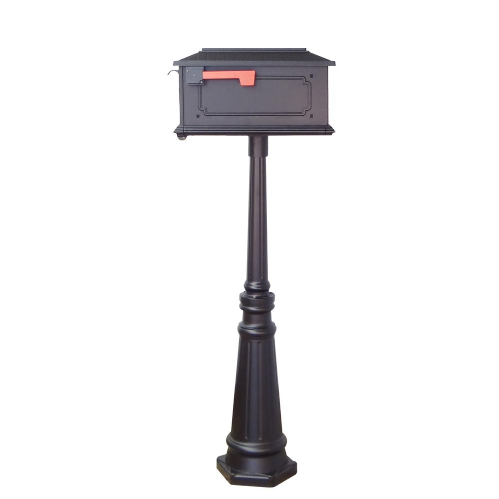 Tacoma Surface Mount Mailbox Post with Base Decorative Aluminum Top Mounting. Picture 24