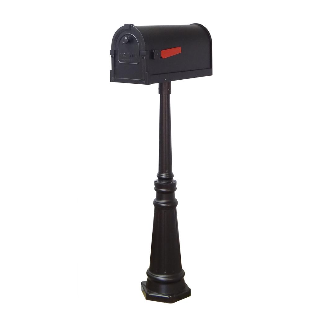 Tacoma Surface Mount Mailbox Post with Base Decorative Aluminum Top Mounting. Picture 25