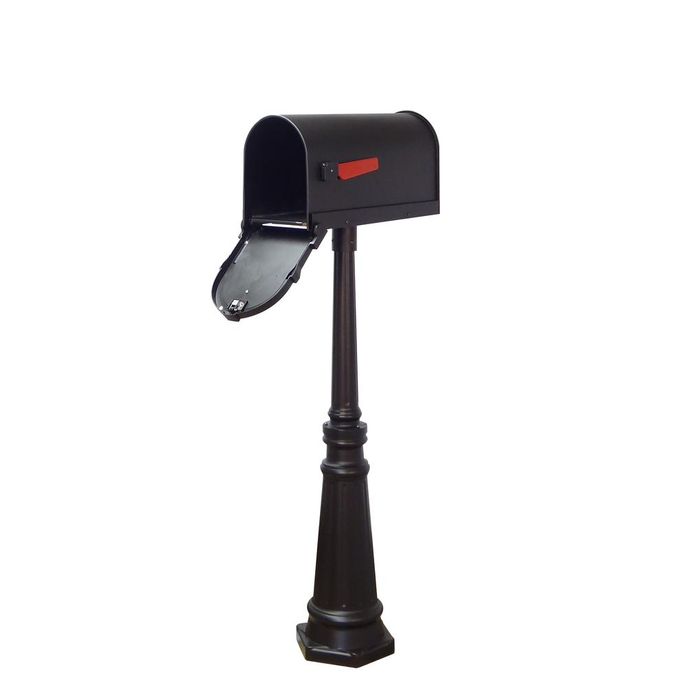 Tacoma Surface Mount Mailbox Post with Base Decorative Aluminum Top Mounting. Picture 27