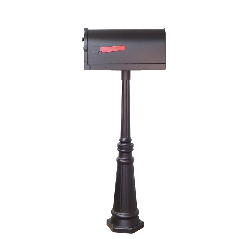 Tacoma Surface Mount Mailbox Post with Base Decorative Aluminum Top Mounting. Picture 28