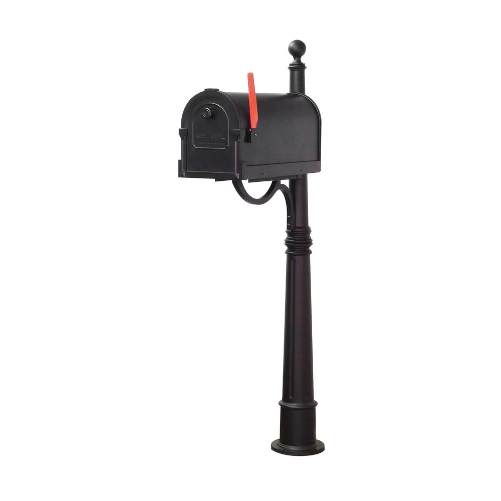 Ashland Decorative Aluminum Durable Mailbox Post with Ball Topper, Base and Mounting Bracket. Picture 23
