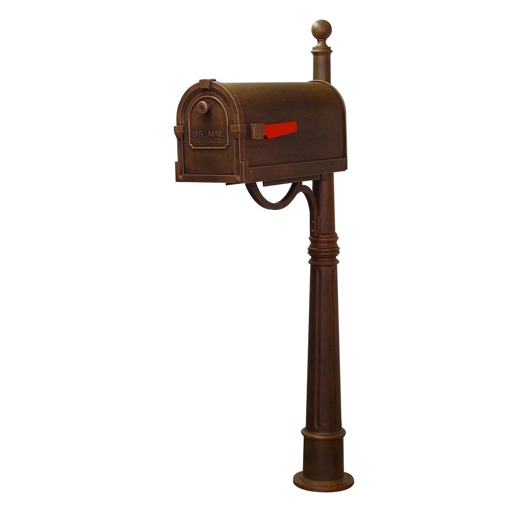 Ashland Decorative Aluminum Durable Mailbox Post with Ball Topper, Base and Mounting Bracket. Picture 26