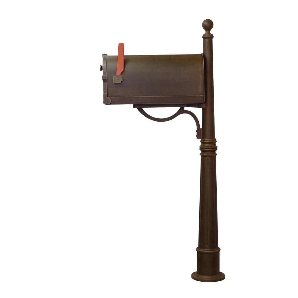Ashland Decorative Aluminum Durable Mailbox Post with Ball Topper, Base and Mounting Bracket. Picture 30