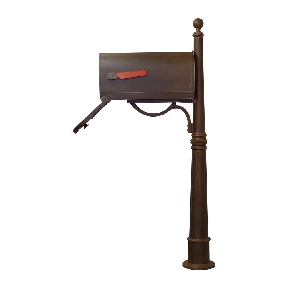 Ashland Decorative Aluminum Durable Mailbox Post with Ball Topper, Base and Mounting Bracket. Picture 31