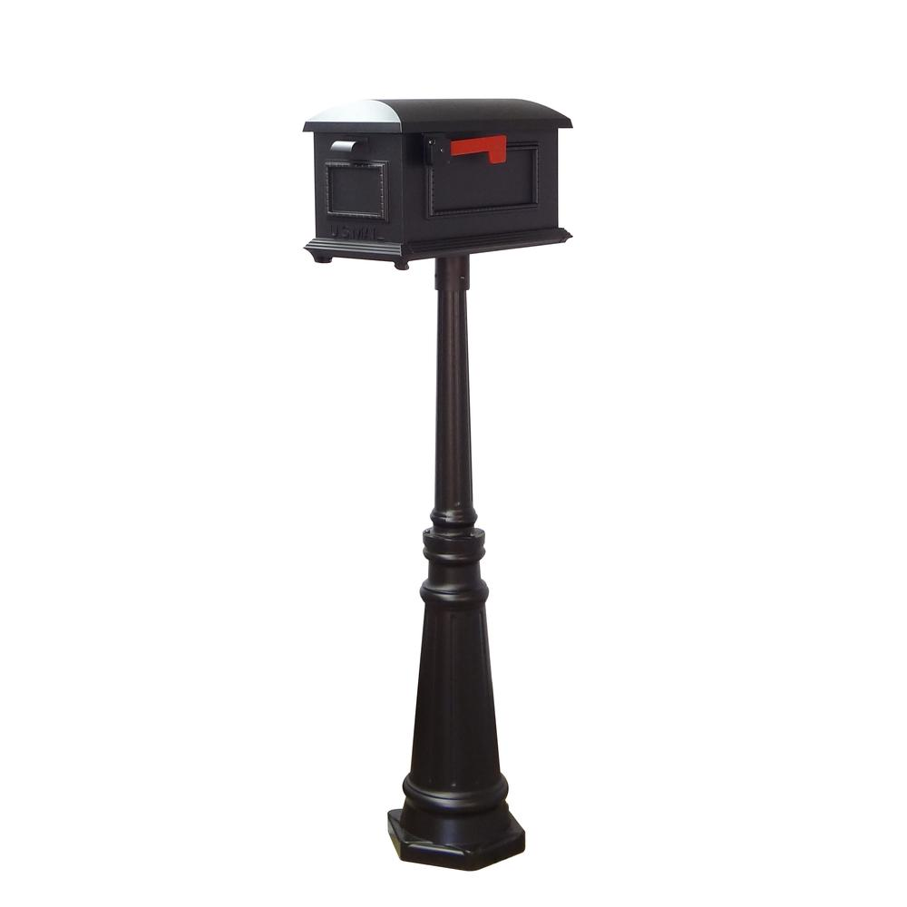 Tacoma Surface Mount Mailbox Post with Base Decorative Aluminum Top Mounting. Picture 29