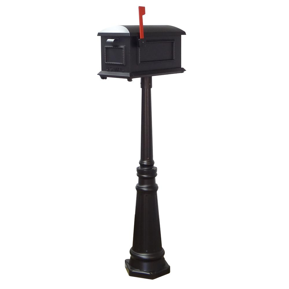 Tacoma Surface Mount Mailbox Post with Base Decorative Aluminum Top Mounting. Picture 30