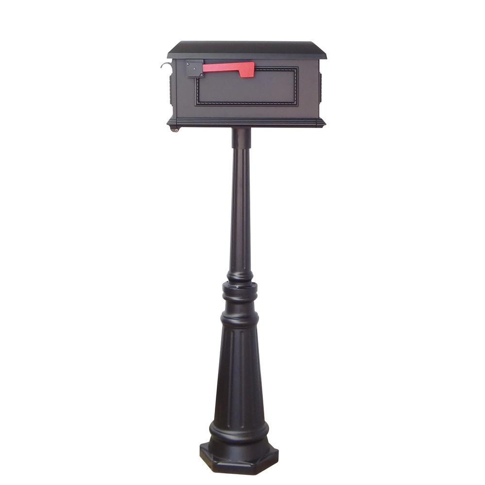 Tacoma Surface Mount Mailbox Post with Base Decorative Aluminum Top Mounting. Picture 32