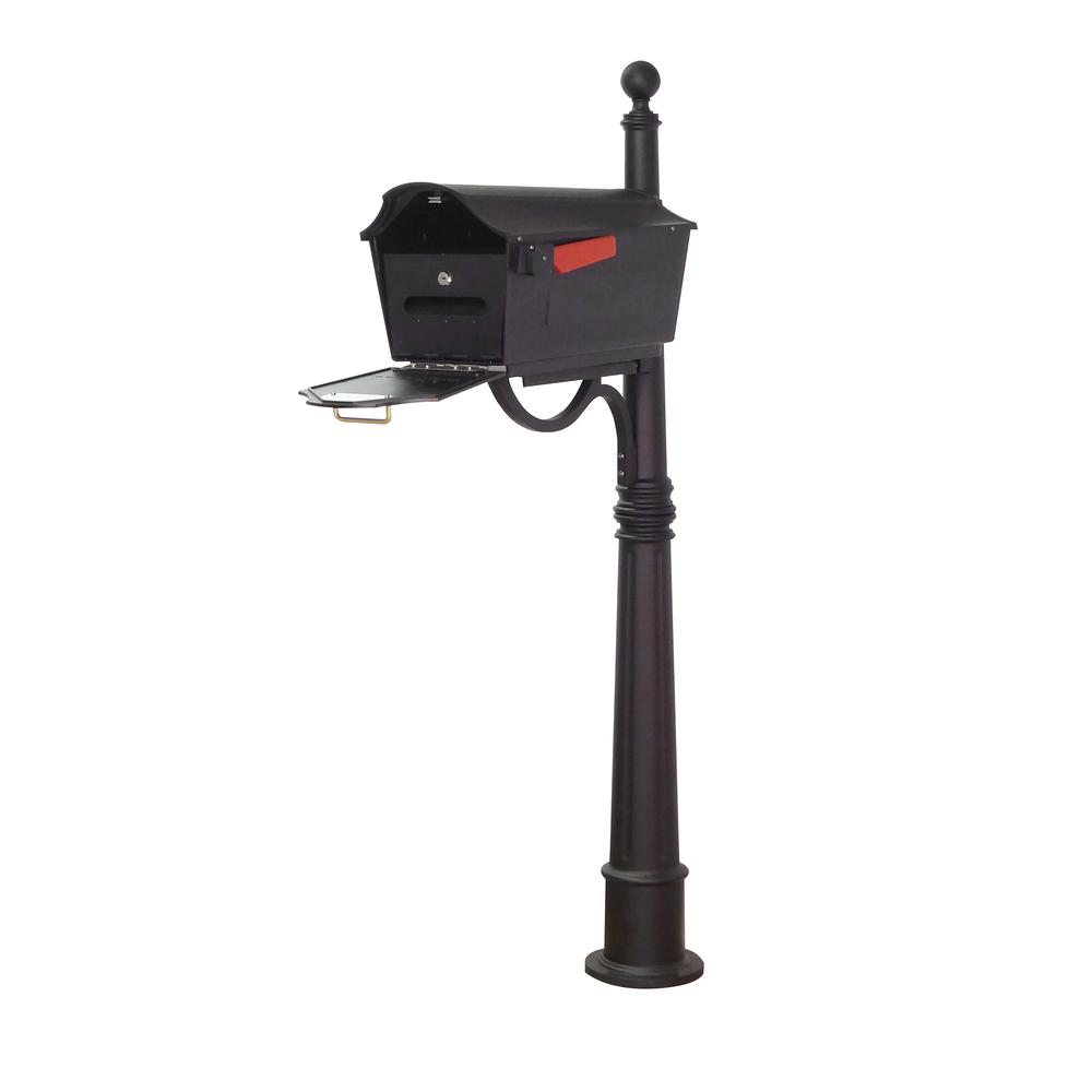 Town Square Curbside Mailbox with Locking Insert and Ashland Mailbox Post Unit. Picture 1