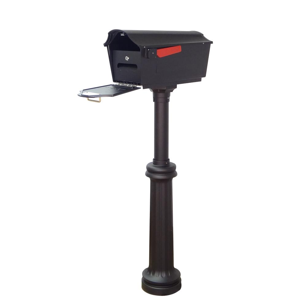 Town Square Curbside Mailbox with Locking Insert and Bradford Mailbox Post. Picture 1
