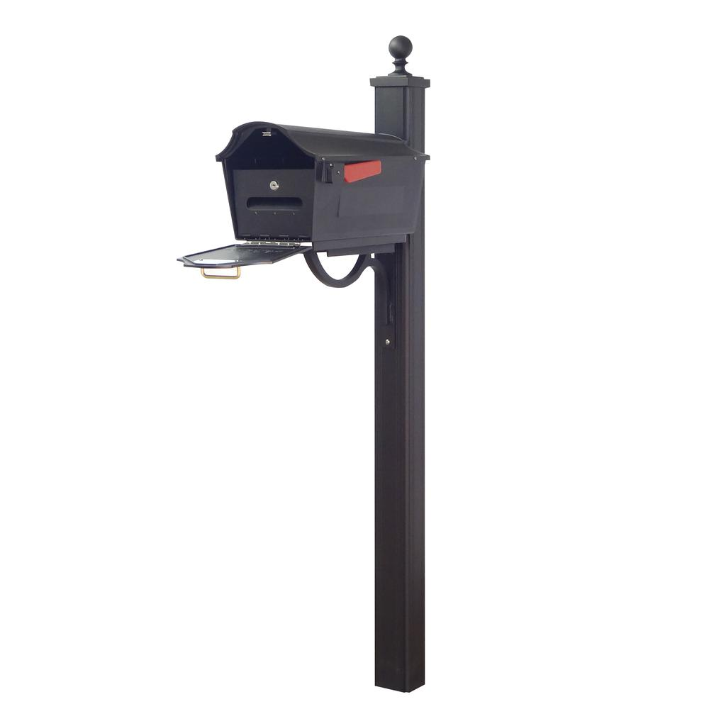 Town Square Curbside Mailbox with Locking Insert and Main Street Mailbox Post. Picture 1
