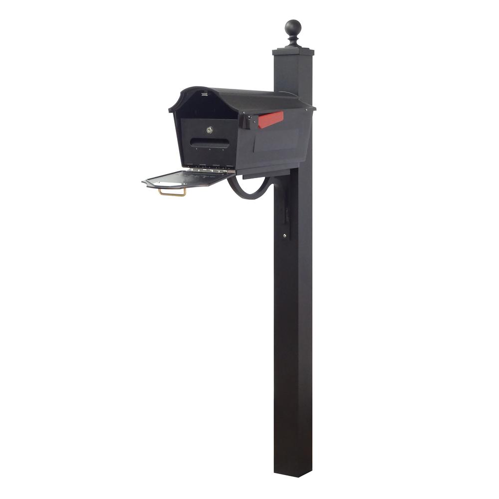 Town Square Curbside Mailbox with Locking Insert and Springfield Mailbox Post. Picture 1