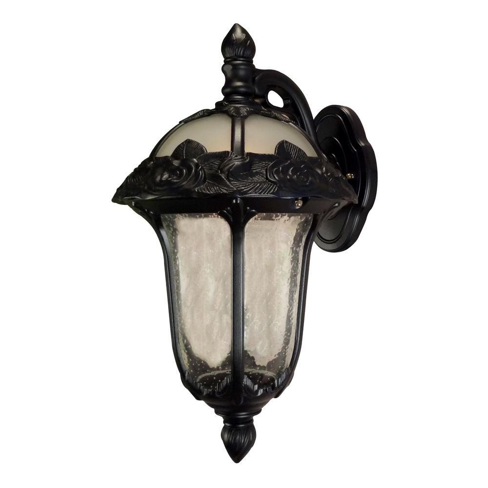 Rose Garden Medium Top Mount Light with Seedy Glass. Picture 1