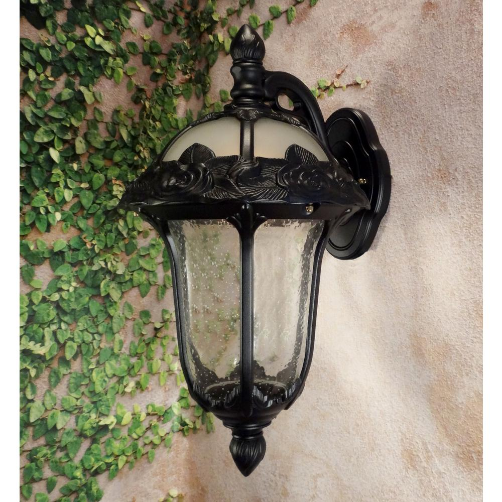 Rose Garden Medium Top Mount Light with Seedy Glass. Picture 2