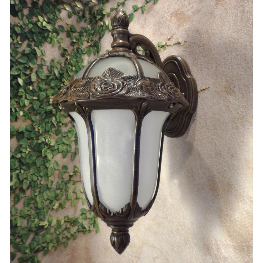 Rose Garden  Medium Top Mount Light with Alabaster Glass. Picture 2