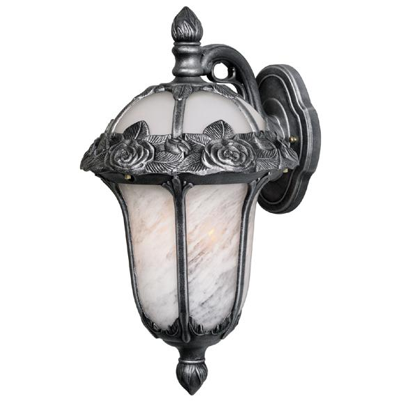 Rose Garden Medium Top Mount Light with Alabaster Glass. Picture 1