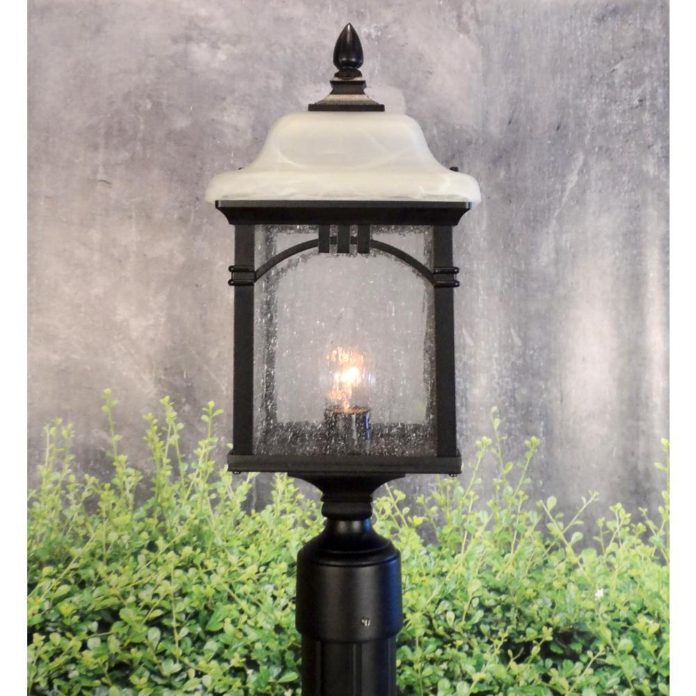 Sonoma Medium Post Mount 1 Light Outdoor Lighting Water Glass. Picture 2