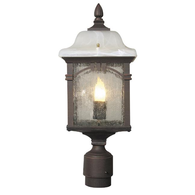 Sonoma  Medium Post Mount 1 Light Outdoor Lighting Water Glass. Picture 1