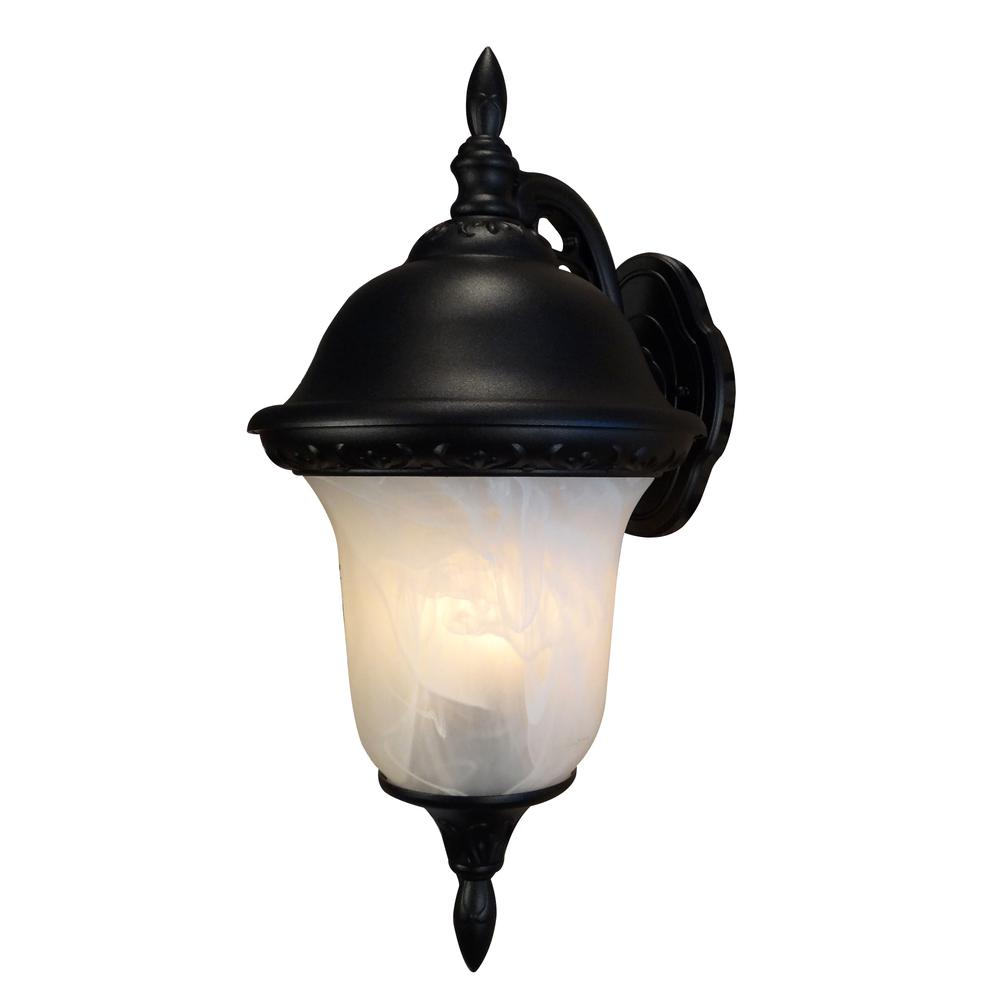 Glenn Aire Medium Top Mount Light with Alabaster Glass. Picture 1