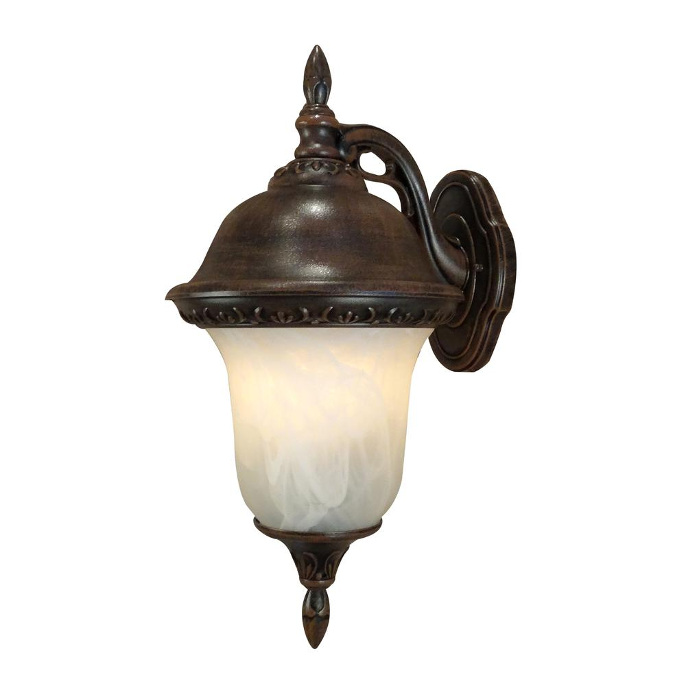 Glenn Aire  Medium Top Mount Light with Alabaster Glass. Picture 2
