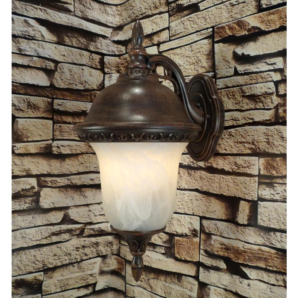 Glenn Aire  Medium Top Mount Light with Alabaster Glass. Picture 4