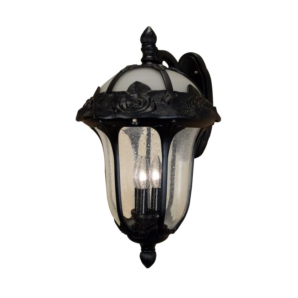 Rose Garden Large Top Mount Light with Seedy Glass. Picture 1