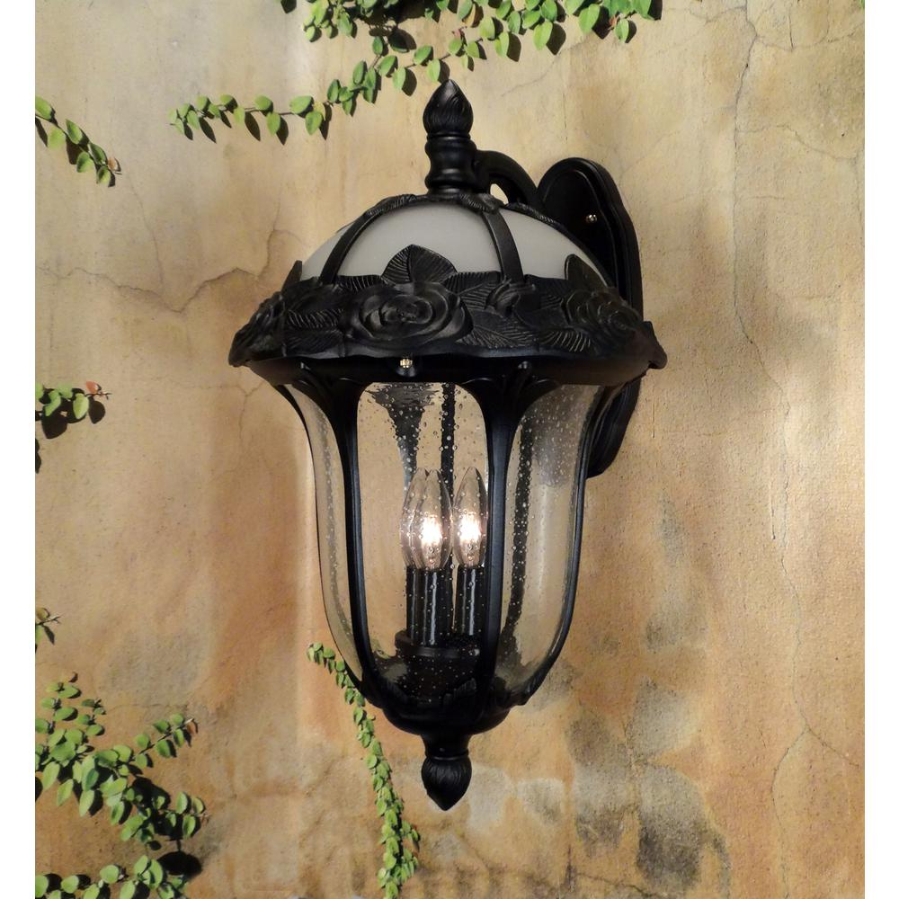Rose Garden Large Top Mount Light with Seedy Glass. Picture 2