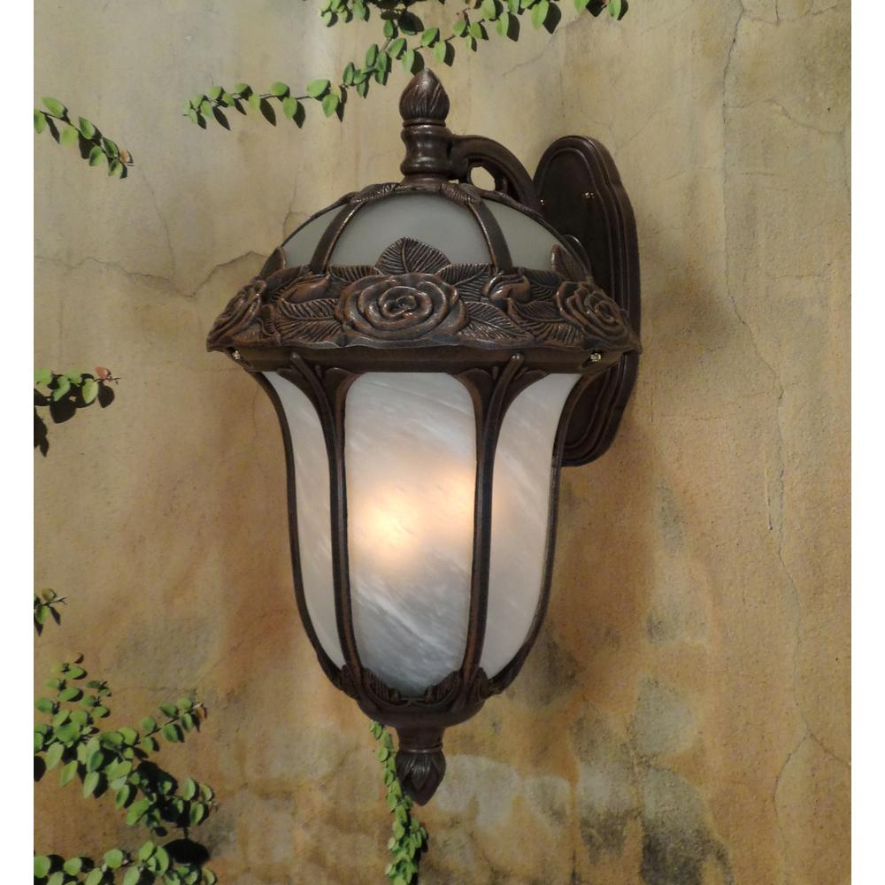 Rose Garden  Large Top Mount Light with Alabaster Glass. Picture 2