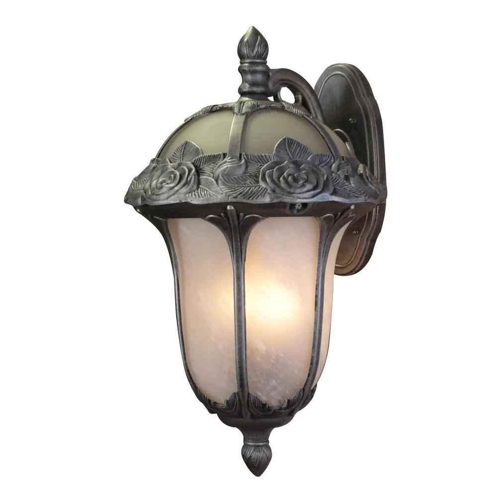 Rose Garden Large Top Mount Light with Alabaster Glass. Picture 1