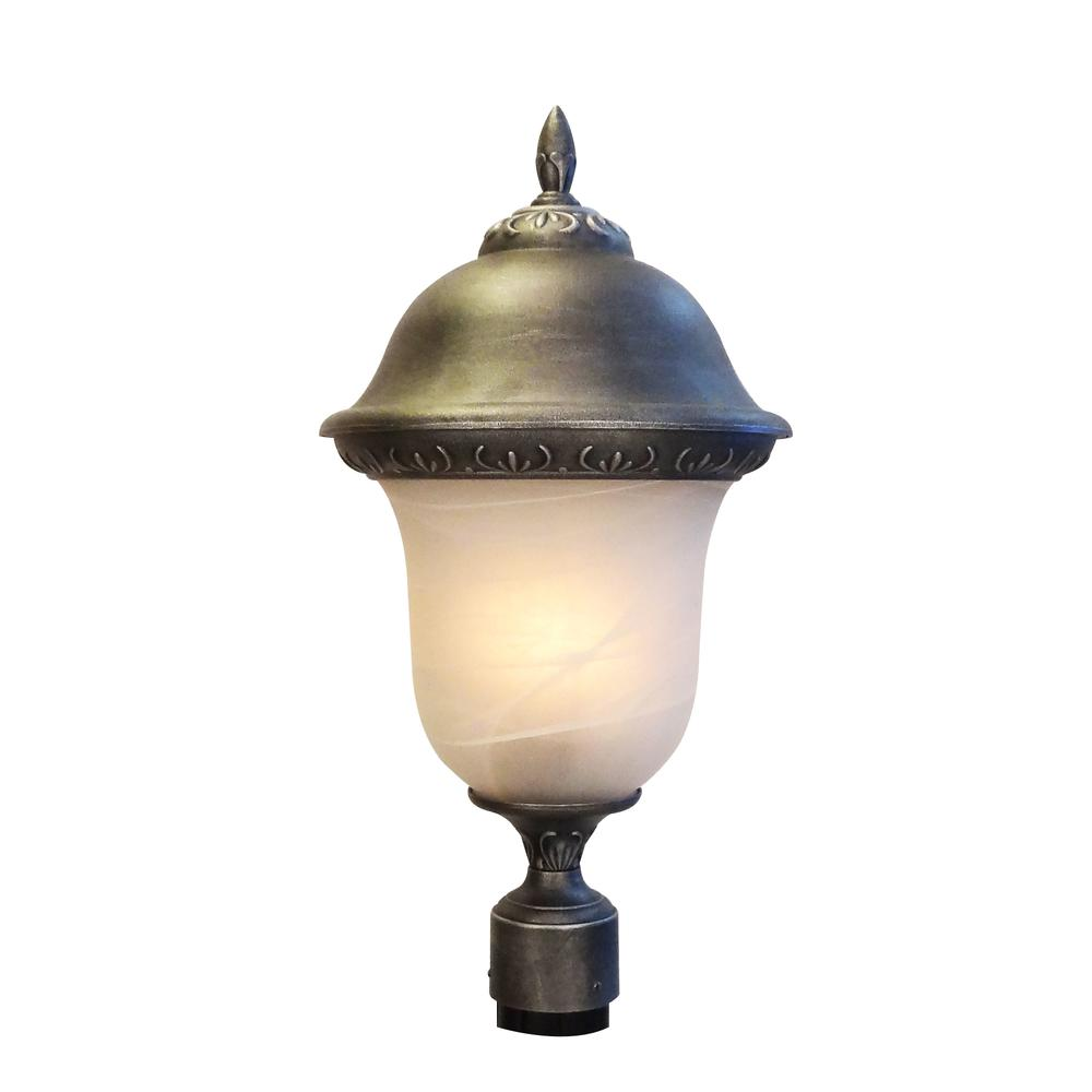 Glenn Aire  Large Post Mount Light with Alabaster Glass. Picture 1