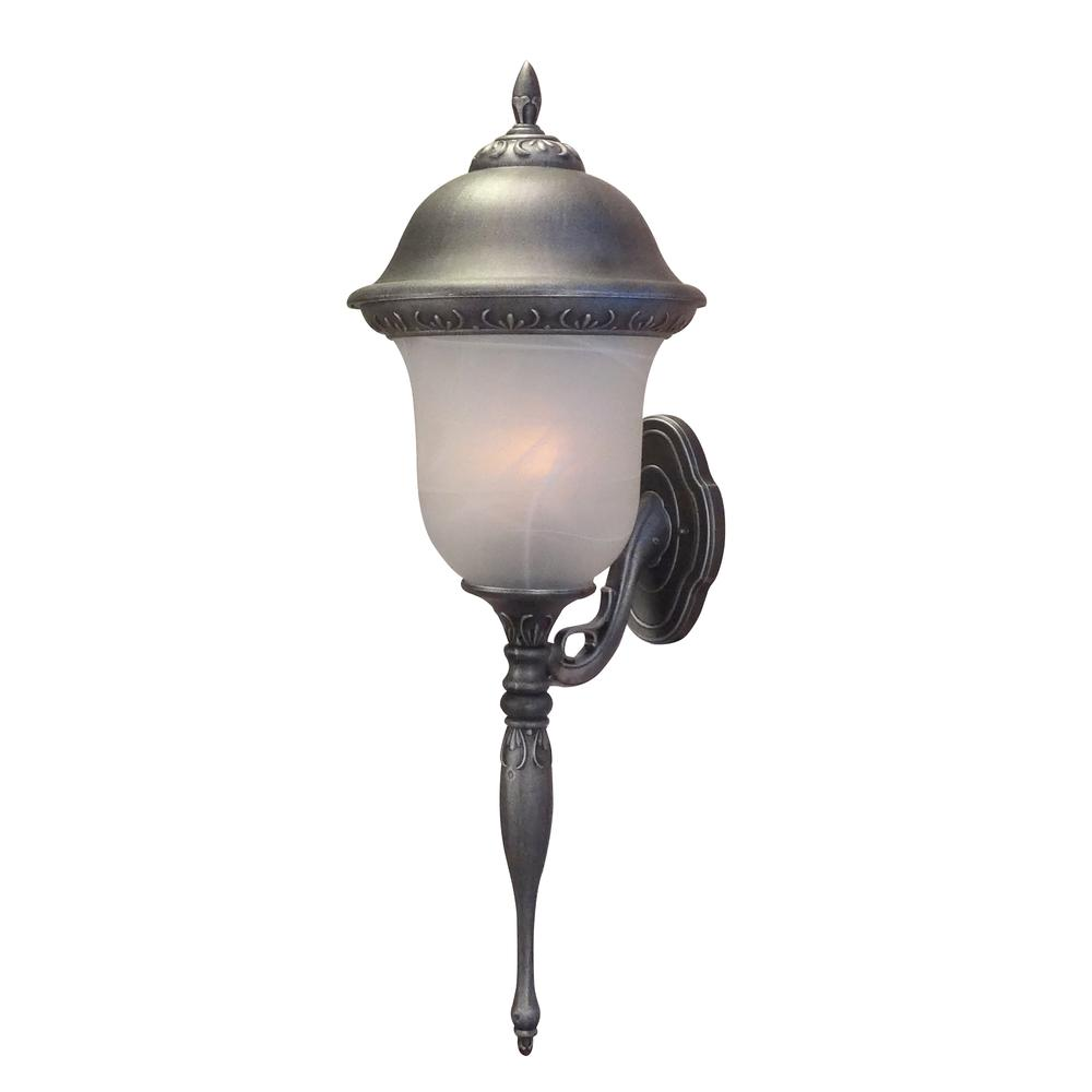 Glenn Aire  Large Bottom Mount Light with Alabaster Glass. Picture 1