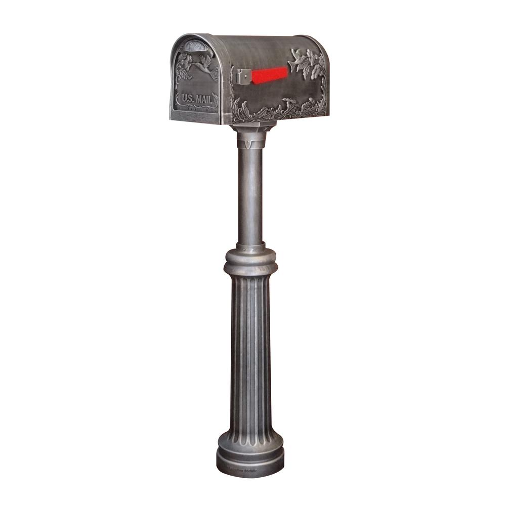 Hummingbird Curbside Mailbox and Bradford Direct Burial Top Mount Mailbox Post. Picture 1