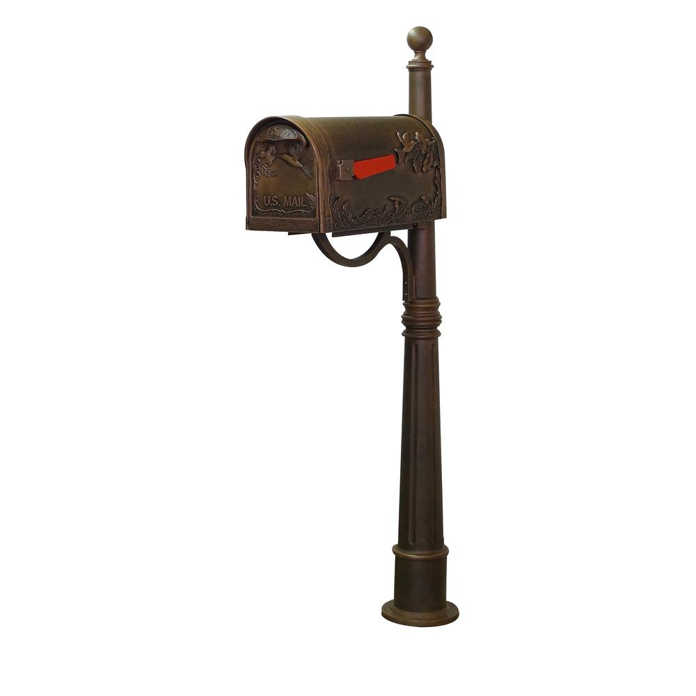 Hummingbird Curbside Mailbox and Ashland Decorative Aluminum Durable Mailbox Post. Picture 2