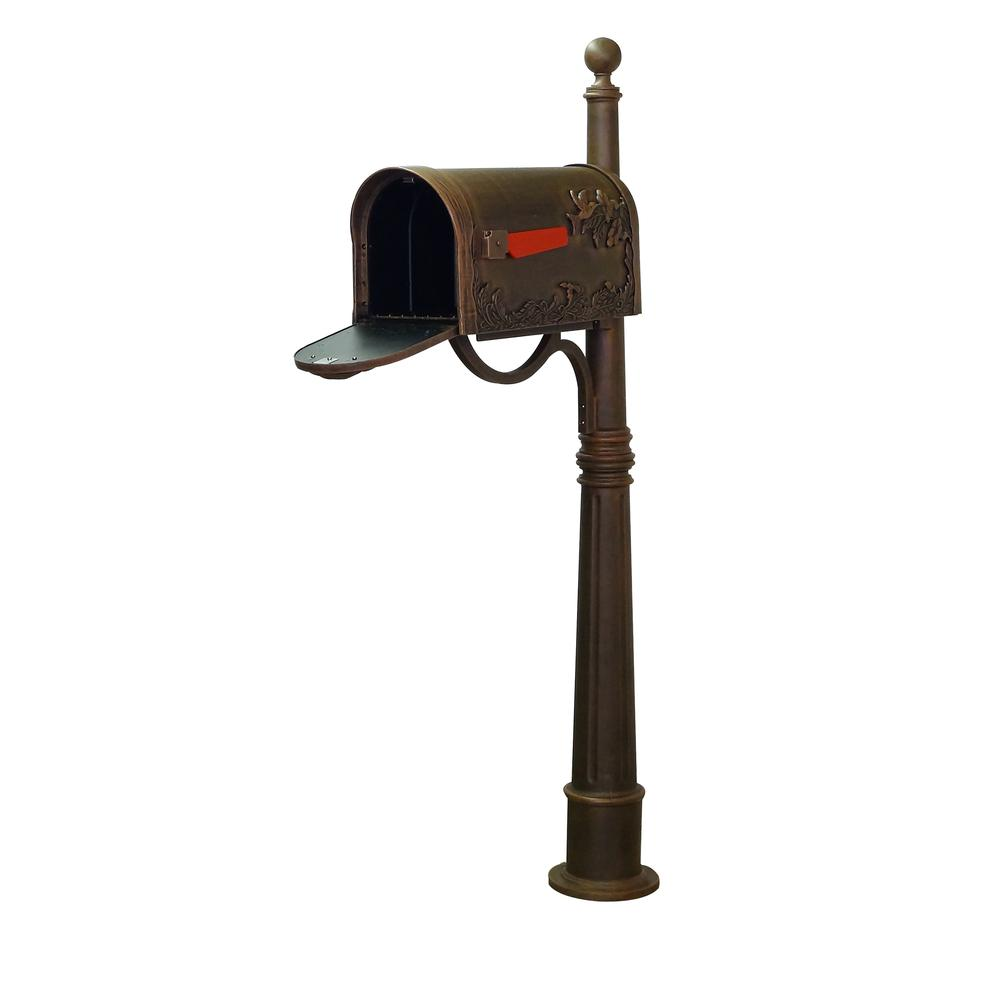Hummingbird Curbside Mailbox and Ashland Decorative Aluminum Durable Mailbox Post. Picture 4