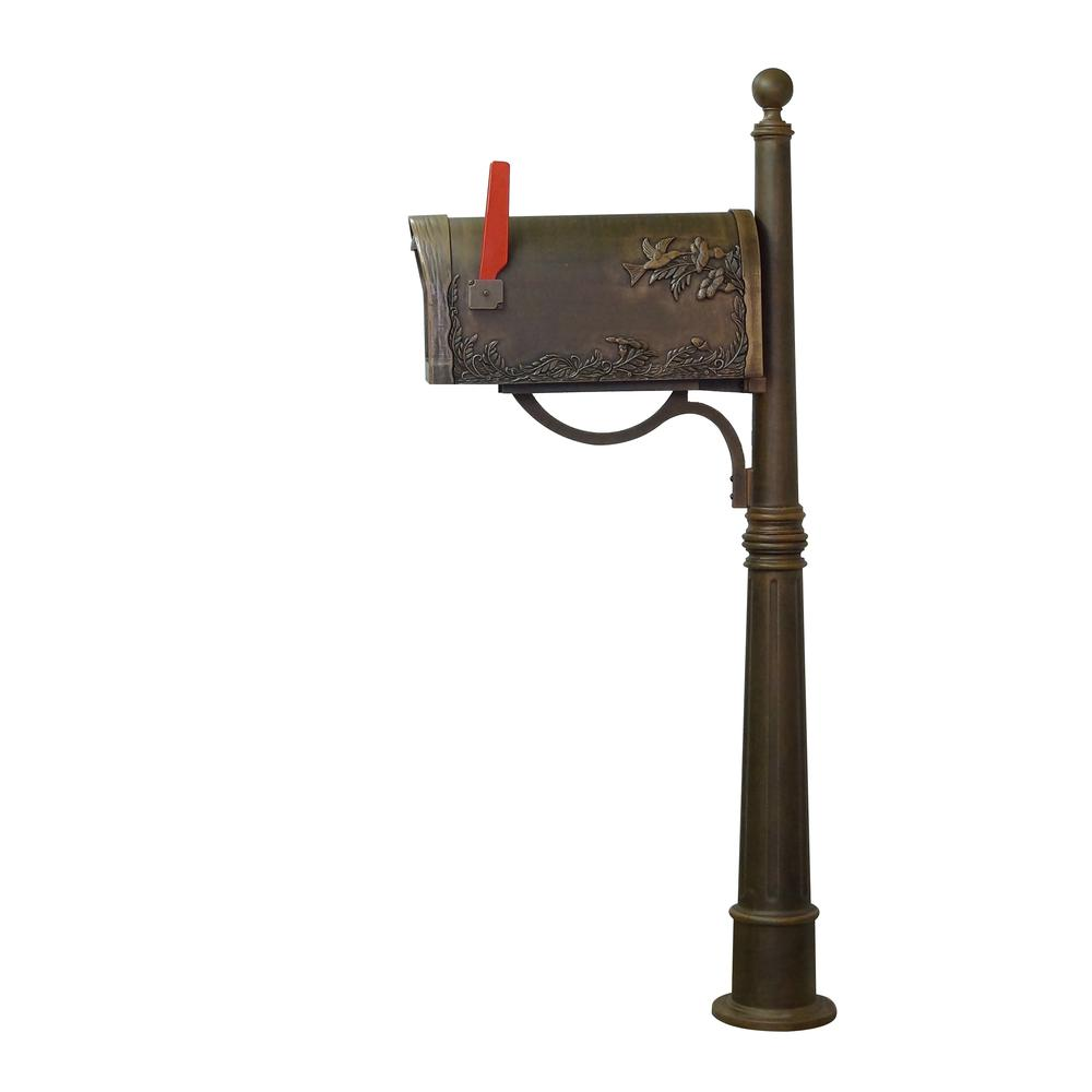 Hummingbird Curbside Mailbox and Ashland Decorative Aluminum Durable Mailbox Post. Picture 6
