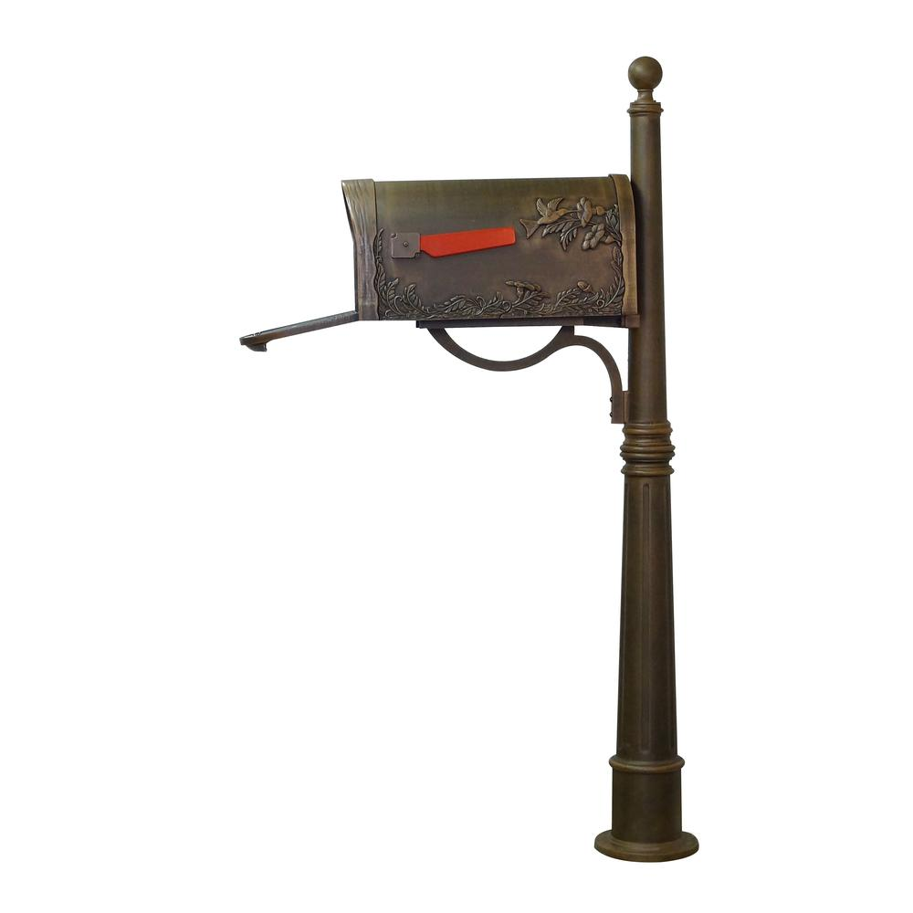 Hummingbird Curbside Mailbox and Ashland Decorative Aluminum Durable Mailbox Post. Picture 7