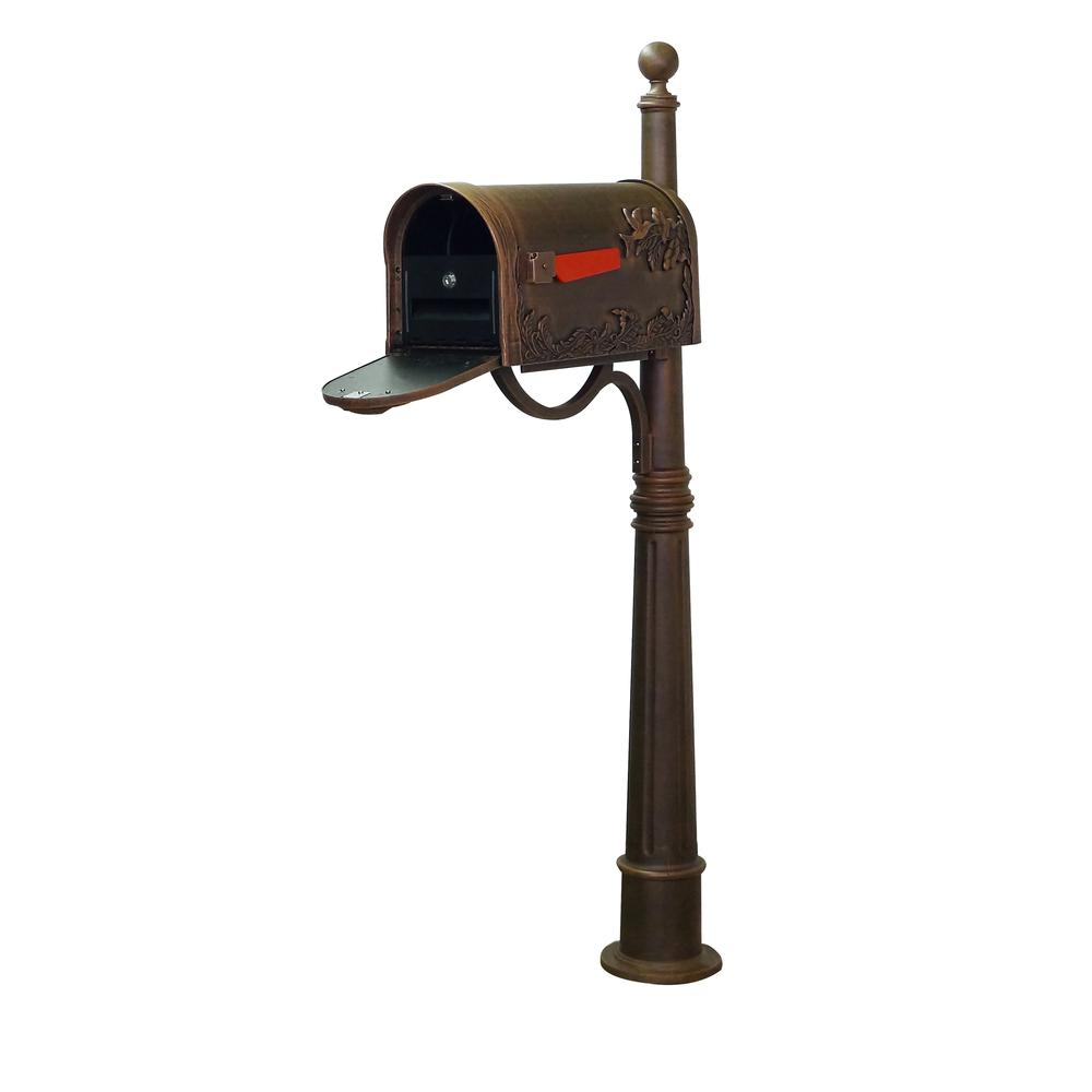 Hummingbird Curbside Mailbox and Ashland Decorative Aluminum Durable Mailbox Post. Picture 1