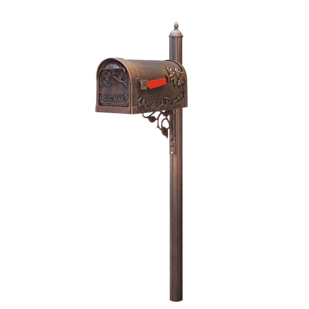 Hummingbird Curbside Mailbox with Albion Mailbox Post. Picture 1