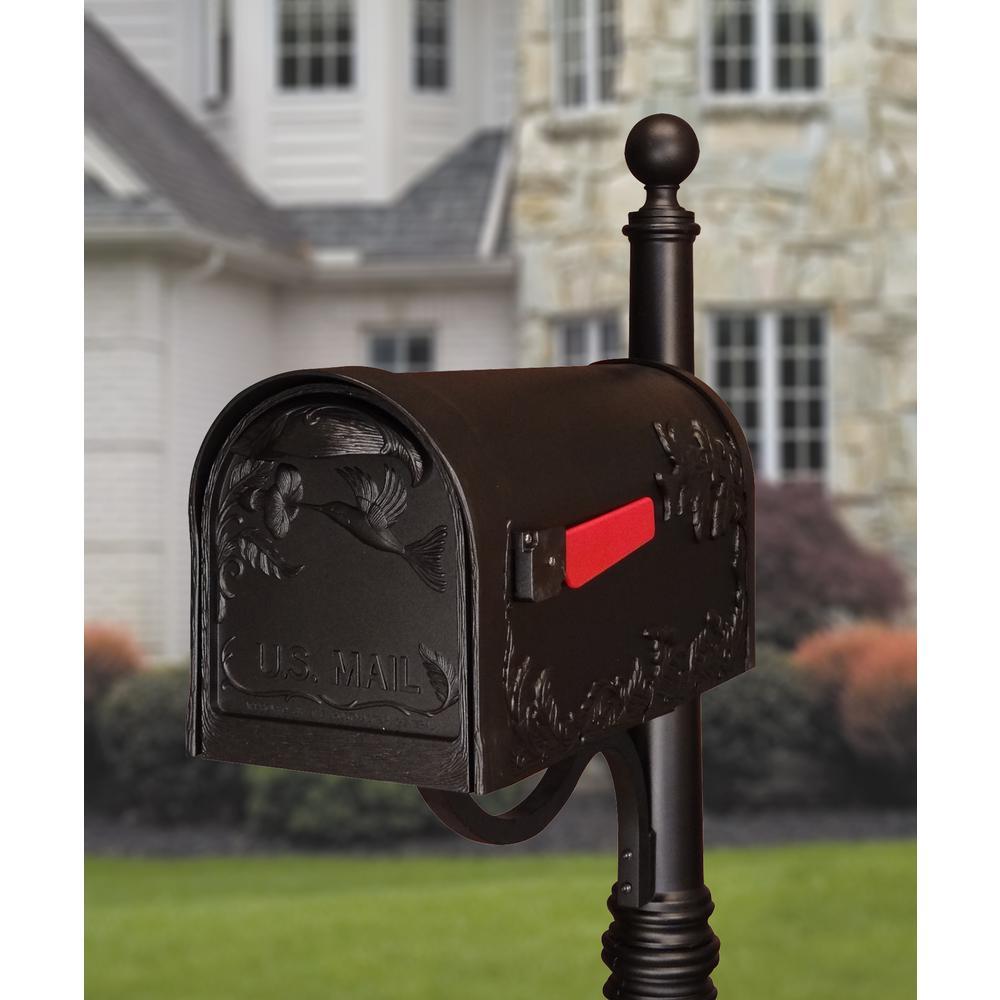 Hummingbird Curbside Mailbox Decorative Aluminum Bird Mailbox. Picture 4