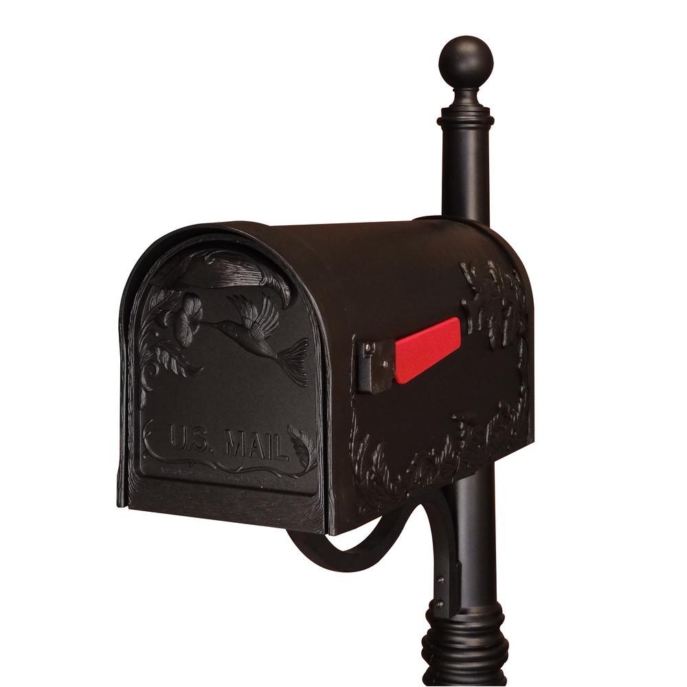 Hummingbird Curbside Mailbox Decorative Aluminum Bird Mailbox. Picture 7