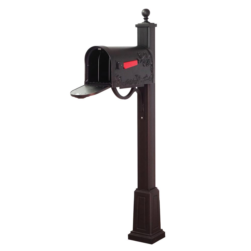 Hummingbird Curbside Mailbox and Main Street Mailbox Post with Base. Picture 4