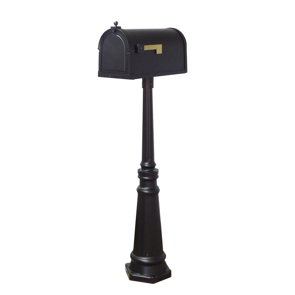Berkshire Curbside Mailbox and Tacoma Surface Mount Mailbox Post with Base