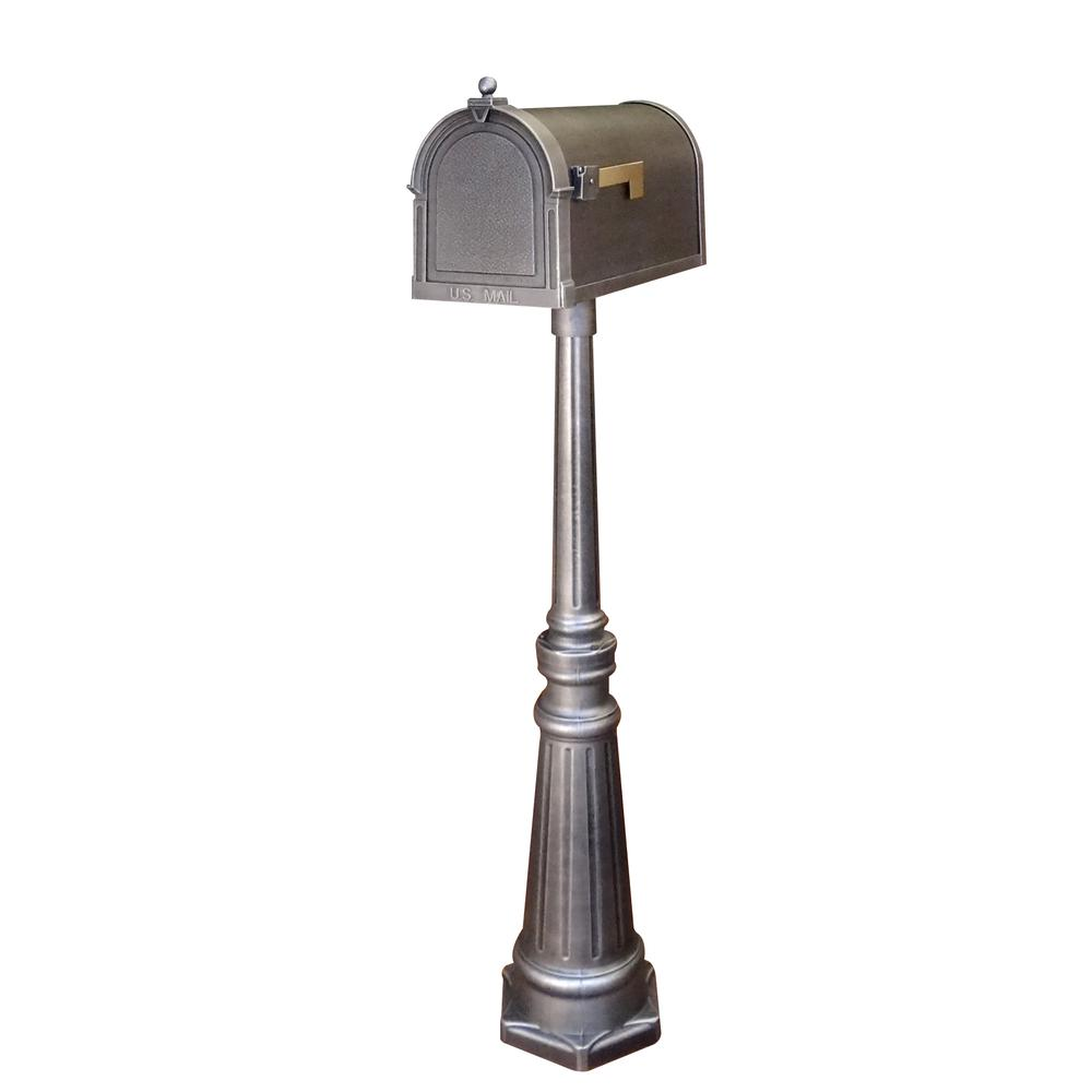 Berkshire Curbside Mailbox and Tacoma Surface Mount Mailbox Post with Base. Picture 1