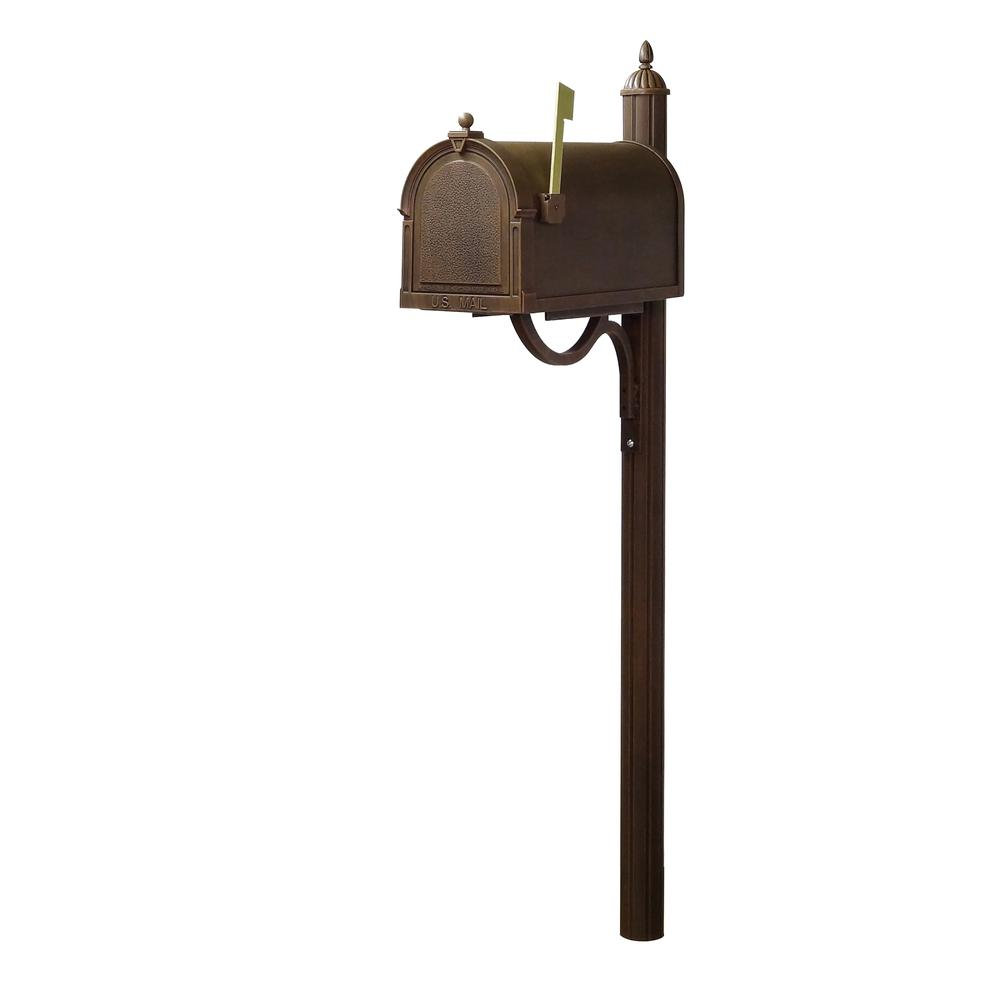 Berkshire Curbside Mailbox with Richland Mailbox Post. Picture 2