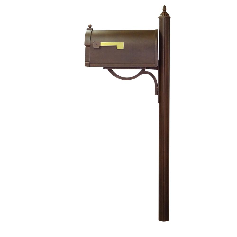 Berkshire Curbside Mailbox with Richland Mailbox Post. Picture 4