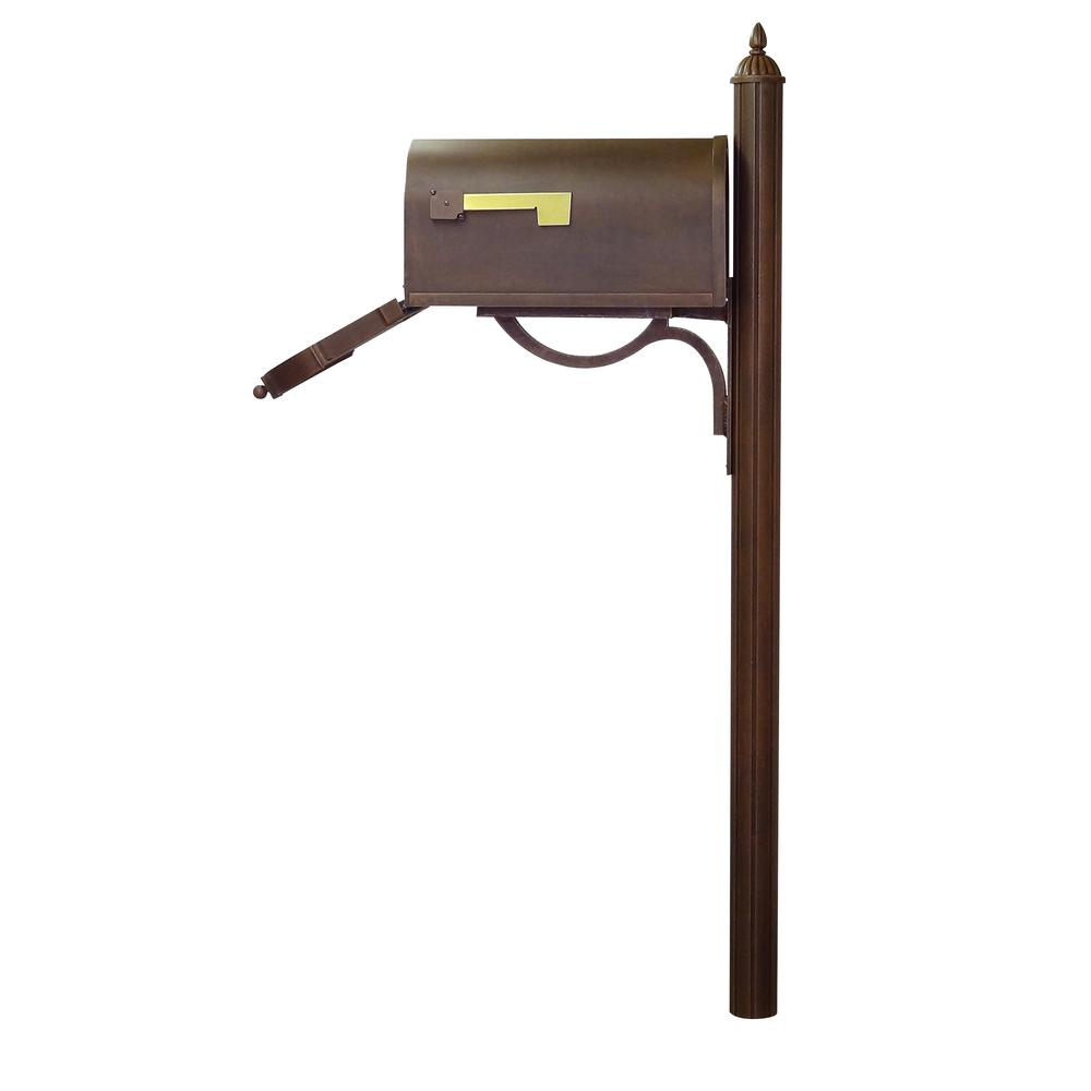 Berkshire Curbside Mailbox with Richland Mailbox Post. Picture 6
