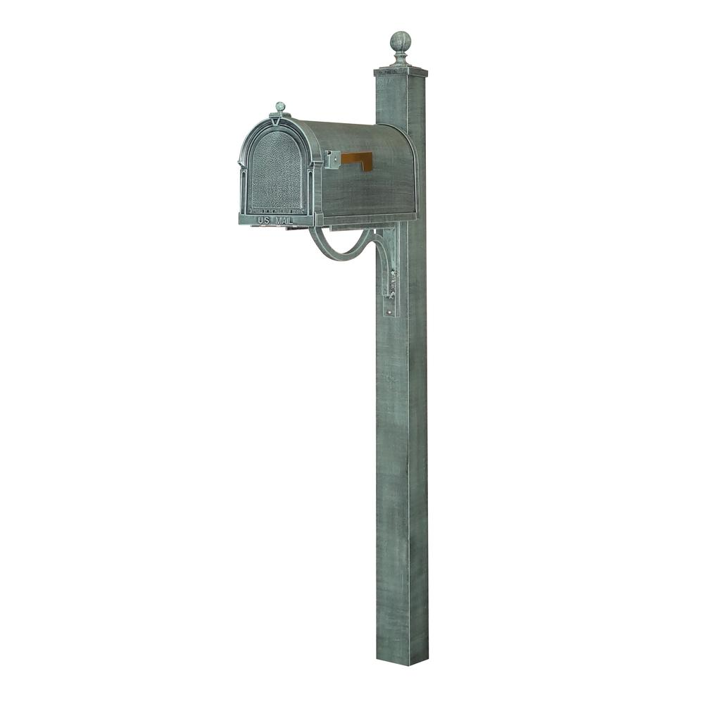 Berkshire Curbside Mailbox and Springfield Direct Burial Mailbox Decorative Aluminum. Picture 1