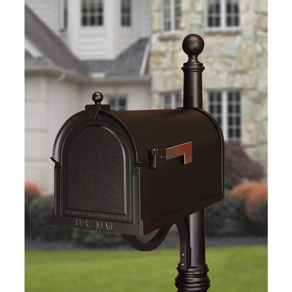 Berkshire Curbside Mailbox Decorative Aluminum Vintage Mailbox. Picture 4